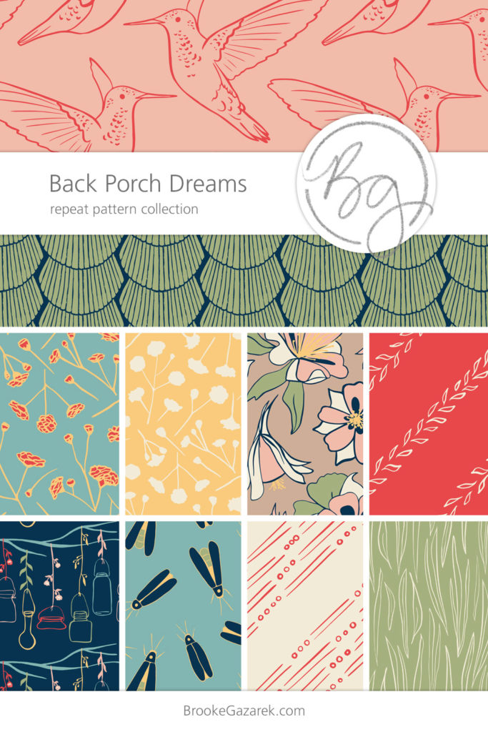 Back Porch Dreams Repeat Pattern Collection Preview for Surface Patterns